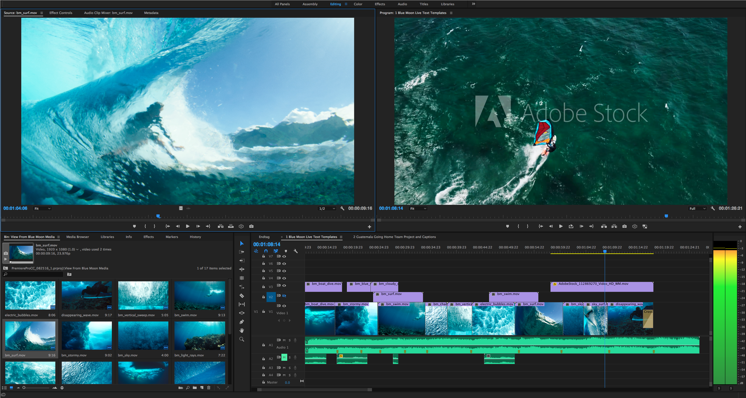 Premiere Pro HERO with Stock