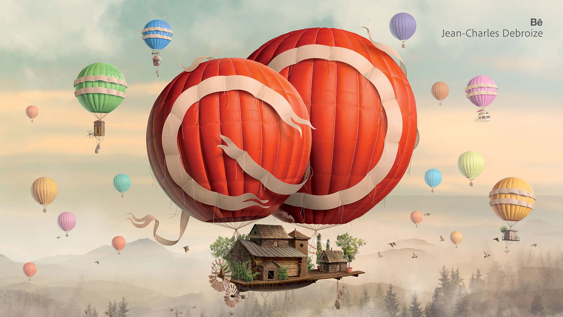 Creative Cloud Overview Artwork by Jean-Charles Debroize