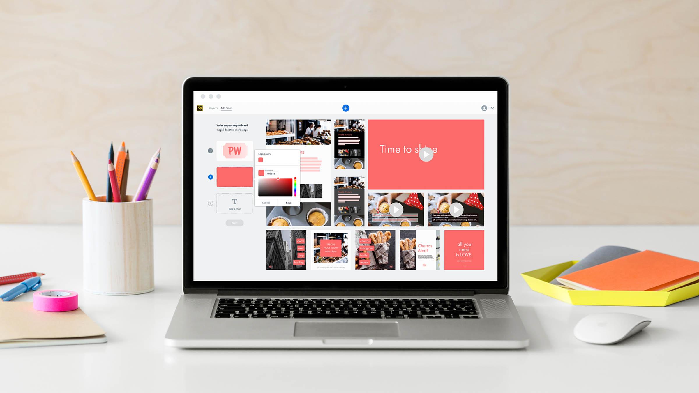 Adobe Enthüllt Spark Mit Premium Features Für Branded